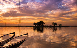 End of day at Deepor beel Royalty Free Stock Image
