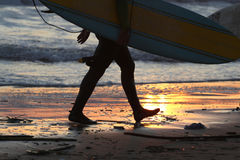 End of day - Surfing Royalty Free Stock Images