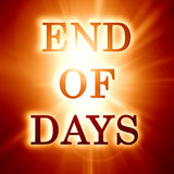 End of days. Written on a soft orange background Stock Photo
