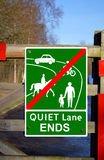 End of designated Quiet Lane Royalty Free Stock Images