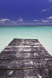 End of the Dock in Paradise Stock Images
