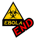 End ebola symbol. Creative design of end ebola symbol Stock Image