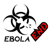 End ebola symbol. Creative design of end ebola symbol Royalty Free Stock Photo