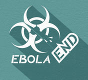 End ebola symbol. Design of end ebola symbol Stock Photos
