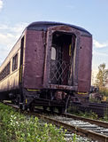 End of an era. A passenger car that has seen better days royalty free stock photo