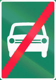 End Of Fast Traffic Highway in Finland Royalty Free Stock Images
