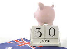 End of Financial Year Savings Concept Royalty Free Stock Photo