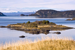 End of the Fireland, Tierra del Fuego. Lapataia Bay in Tierra de Stock Image