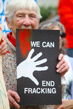 End Fracking Stock Photo