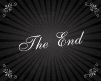 The end frame. Over black background vector illustration Royalty Free Stock Images