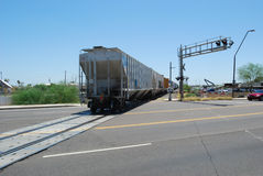 End of Freight Train Stock Photography