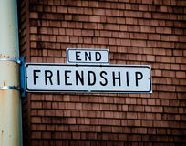 End of Friendship. Street sign in San Francisco, California Royalty Free Stock Photo