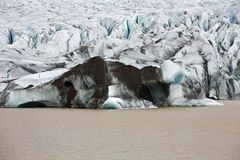The end of glacier tongue in Iceland Stock Photo