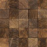 End grain wood texture. Brown end grain wood texture. Cross cut lumber blocks stock photography