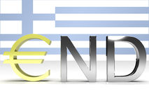 The end of Greece Royalty Free Stock Photography