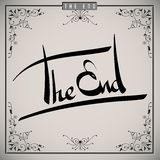 The end greetings hand lettering set (vector) Stock Image