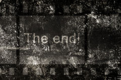 The end on a grunge background Royalty Free Stock Photo