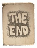 The End. Hand drawn.  Vector design. Eps8 Stock Images