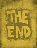 The End. Hand drawn. Stock Image