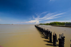 End of Jao Phaya river Royalty Free Stock Photo