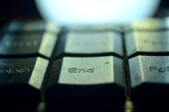 End Keyboard. Computer keyboard, laptop keyboard, technology Royalty Free Stock Photo