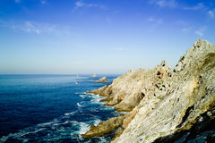 End of land in brittany pointe du raz Royalty Free Stock Photography