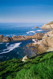 End of land in brittany pointe du raz Stock Photography