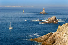 End of land in brittany pointe du raz Stock Image