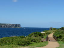 End of Land. Footpath to the ocean at Sydney Australia Stock Image