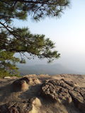 End of the land. Top view from mountain in Thailand Royalty Free Stock Image