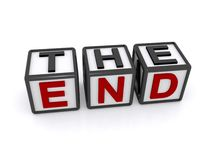 The end on cubes Stock Images