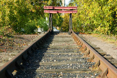 The end of the line royalty free stock image