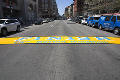 End line of Boston Marathon Royalty Free Stock Images