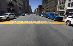 End line of Boston Marathon Stock Photography