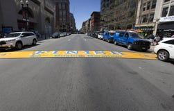 End line of Boston Marathon Stock Photography