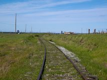 End of Line - Lost Railroad Track Royalty Free Stock Photo
