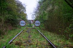 End of the line royalty free stock photography