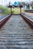 End of the line royalty free stock photos