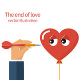 The end of love, concept Royalty Free Stock Images