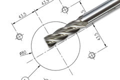 End mill cutter Stock Photos