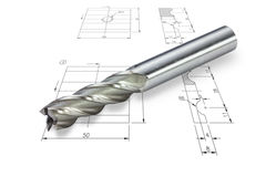 End mill cutter Stock Photo
