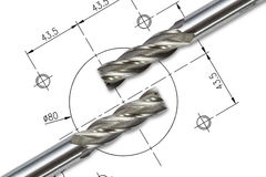 End Mill Cutters Stock Photos