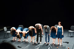 End of modern dance show Royalty Free Stock Image