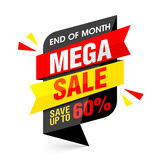 End of month mega sale banner Stock Images