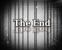 The end Movie Stock Image