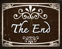The end Movie vector illustration
