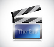 The end movie clapper. Illustration design over a white background Stock Images