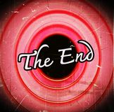The end Movie ending Stock Image