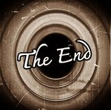 The end Movie ending Royalty Free Stock Photos