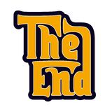 The End. Movie ending Illustration The End Royalty Free Stock Photography